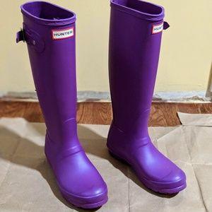 Hunter Rain Boots - Original Tall - Neon Purple 6